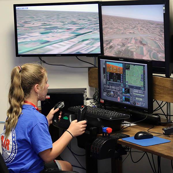 Air Camp flight simulator